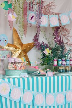 Mermaid Under the Sea Table inspiration