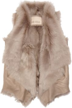 winter shearling vest