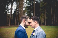 we do love this wedding picture by Christina Louise Photography #wedding #hochzeit #gay #inspiration #wales #groom #love