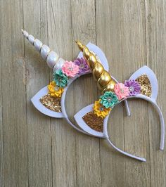 Regalo de unicornio unicornio cinta oro amarillo de lavanda