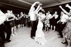 Bride, groom and the guests on the dance floor | Action shots - Crazy Dancing | Boston Wedding Photographer Anna Rozenblat