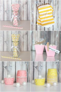 Pink + Yellow Party Supplies via The TomKat Studio