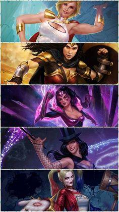 Ladies of DC comics Marvel Dc Comics, Dc Comics Women, Dc Comics Girls, Dc Comics Art, Marvel Vs, Comic Book Characters, Comic Character, Mundo Comic, Female Hero
