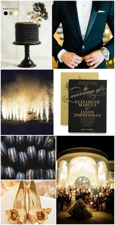 Gold and black luxury wedding inspiration | Invite by @weddingpaper