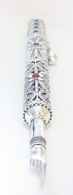 Sterling Silver Torah pointer set with by SilverWoodStone on Etsy, $660.00
