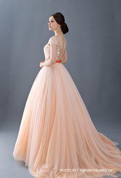 戀愛進化論 嫩 - PEACH DRESSES / FORMAL WEDDING - TaipeiRoyalWed.tw 台北蘿亞結婚精品 粉桃色晚禮服