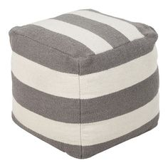 Surya Contemporary Square pouf/ottoman in Gray Color From Surya Poufs Collection Pouf Ottoman, West Elm, Accent Furniture, Modern Furniture, Ikea Furniture, Furniture Ideas, Furniture Websites, Furniture Removal