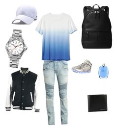 """""""Teen Male cute kinda back to school outfit"""" by crayshark on Polyvore featuring Balmain, Gap, Sophnet., Michael Kors, Burberry, Lanvin, TAG Heuer, men's fashion and menswear"""