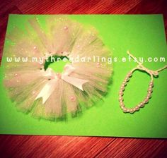 Elf on the Shelf Girl Outfit, Tutu Skirt w/ Pearl Detail and Pearl Necklace