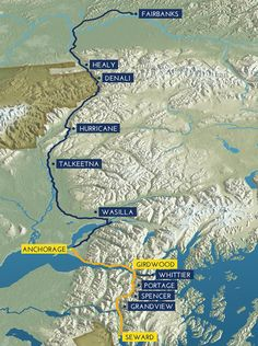 ALASKA RAILROAD:  Official site: The Coastal Classic route from Anchorage to Seward can be combined with the Denali Star from Anchorage to Fairbanks.