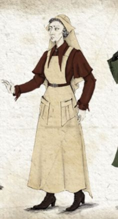 "Concept art of Madame Pomfrey from ""Harry Potter and the Half-blood Prince""."