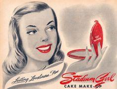 Stadium Girl Cake Make-Up, 1946