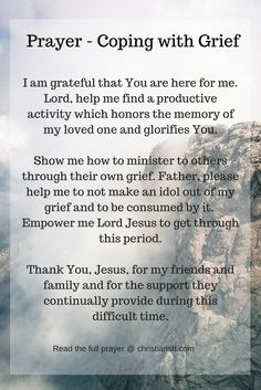Prayer for coping with grief