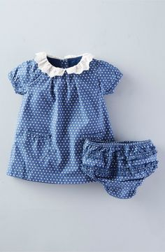 Mini Boden Broderie Collar Dress (Baby Girls) available at Cute Outfits For Kids, Toddler Outfits, Baby Girl Dresses, Baby Dress, Baby Girl Fashion, Kids Fashion, Outfits Niños, Baby Outfits, Mini Boden