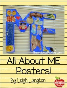 All About Me Poster! Looking for a fun way to get to know your students. I love using this easy to do activity for the beginning of the year. Use to the tracer to create a poster in the shape of a ME! Have students decorate the poster using magazine clippings, pictures, drawings, whatever shows information about them!