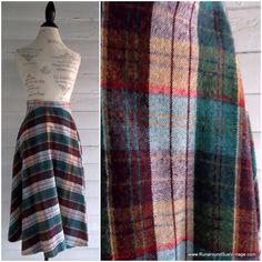 Vintage Skirt  Tartan Wool A Line Skirt by runaroundsuevintage, $24.00