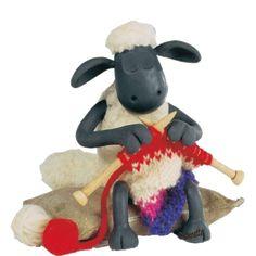 Die beste Nebenbei-Begleitung beim stricken: Shawn das Schaf...