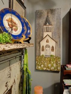 My artwork Church in Cotton Field at Market Central