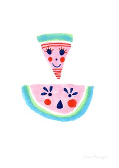 Happy Fruits Watermelon by Jane Reiseger