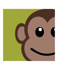 @Candice Steele a George picture for Blake's room!  Laila's Art — Monkey Wall Art on #zulily!