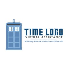 Day 16 of the #60x60x60LogoChallenge -Time Lord Virtual Assistance  60 logos / 60 days / 60 minutes  #graphicdesign #logodesign #logo #smallbusiness #branding #marketing #illustration #entrepreneur #timelord #drwho #doctorwho #tardis