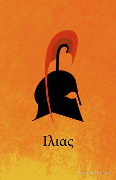 'The Iliad' Poster by DandalfTheGay Greece Mythology, Greek And Roman Mythology, Greek Gods, Roman Gods, Artist Journal, Book Posters, Museum Exhibition, Ex Libris, Dark Souls