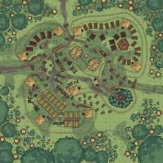 Dungeons And Dragons 5e, Dungeons And Dragons Homebrew, Dnd Orc, Dnd World Map, Fantasy City Map, Pathfinder Maps, Village Map, Rpg Map, Map Layout