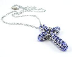 Celtic Style Cross Necklace Large by CelestialBlacksmith on Etsy