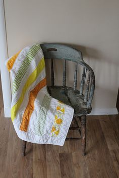 Citrus Baby Quilt Drape by bearmansfield, via Flickr