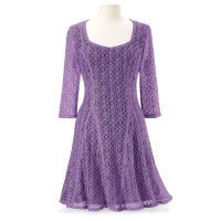 Amethyst Lace Dress - Women's Clothing & Symbolic Jewelry – Sexy, Fantasy, Romantic Fashions Mob Dresses, Plus Size Dresses, Dresses With Sleeves, Bridesmaid Dresses, Long Sheer Dress, Modest Fashion, Fashion Dresses, Unique Clothes For Women, Unique Dresses