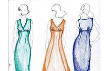 abito tagliato sotto seno, modello abito con taglio sotto seno, abito tubino modellistica