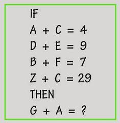 Logical math puzzle for genius