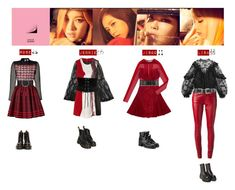 BLACK PINK - PLAYING WITH FIRE♡️ by vvvan99 on Polyvore featuring polyvore fashion style Kenzo Maison Margiela Chloé Yves Saint Laurent Dr. Martens Topshop Valentino Chanel Marni B-Low the Belt UNIF clothing