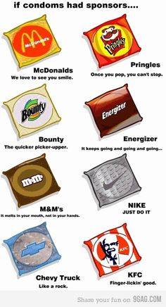 "Condom Sponsors! Chevy would now say ""Runs Deep"" and Nike has the option to say ""Every Damn Day"""