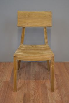 Minimalist Dining Chair from Solid Teak Wood