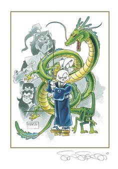 Stan Sakai's creation, the rabbit ronin Usagi Yojimbo, is one of the most beloved and enduring characters in comics today. Comic Book Characters, Comic Books, Fictional Characters, Usagi Yojimbo, Limited Edition Prints, Tmnt, Dibujo, Ninja Turtles, Cartoons