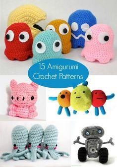 15 Free Amigurumi Patterns to Crochet - http://diycandy.com