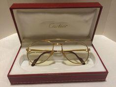 Cartier Vintage Sunglasses eyeglasses original gold plating made in France #Cartier