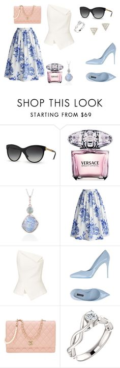"""Uptown Chic"" by overeducatedqueen ❤ liked on Polyvore featuring Versace, Versus, Poppy Jewellery, Chicwish, Roland Mouret, Dolce&Gabbana, Chanel and Adina Reyter"