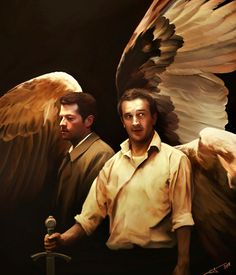 Really cool Supernatural fan art.