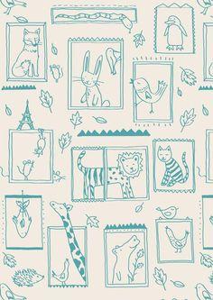 Little Cube Frames Wallpaper, Remodelista