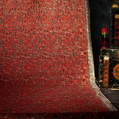 While some reds might raise your eyebrows, others awaken your soul. #Nuvole #Pattern #Red #Fortuny #fabric #design #beauty