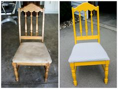 Thrift store chair makeover  (I have two of these) as yet not madeover