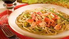 Como fazer Spaghetti com Peixe e Abobrinha