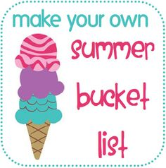 Summer Bucket List Printable and great ideas!