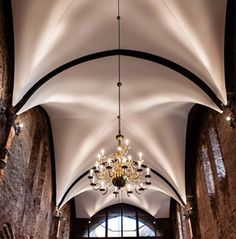 Batyline Aw Lux: a unique combination of acoustic and lighting comfort Interior Lighting, Lighting Design, Ferrari, Gym Design, Kirchen, Vaulting, Ceiling Design, Futuristic, Canopy