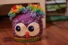 Rainbow Owl Shells Beanie By Lilișor - Free Crochet Pattern - (atelierhandmade)