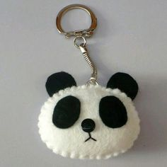 Discover recipes, home ideas, style inspiration and other ideas to try. Felt Diy, Handmade Felt, Felt Crafts, Hobbies And Crafts, Diy And Crafts, Panda Craft, Felt Keychain, Keychains, Sewing Crafts