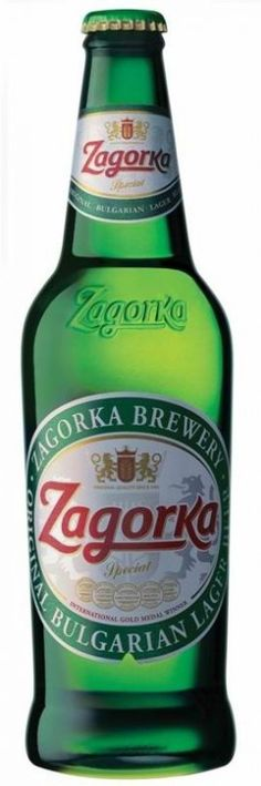 Cerveja Zagorka Bulgarian Lager, estilo Standard American Lager, produzida por Zagorka Brewery, Bulgária. 5% ABV de álcool.