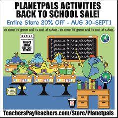 Educational Activities, Classroom Activities, Classroom Decor, Planet Love, World Peace, Healthy Kids, Teacher Pay Teachers, Lesson Plans, Back To School